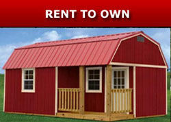 Derksen Buildings rent to own A+ Sheds and Carports San Antonio, Texas